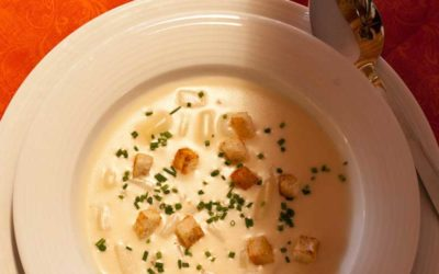Rezept Spargelcremesuppe mit Croutons